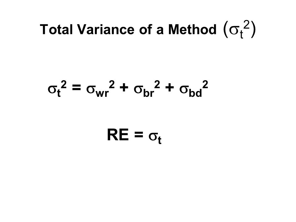 Total Variance of a Method (t2)