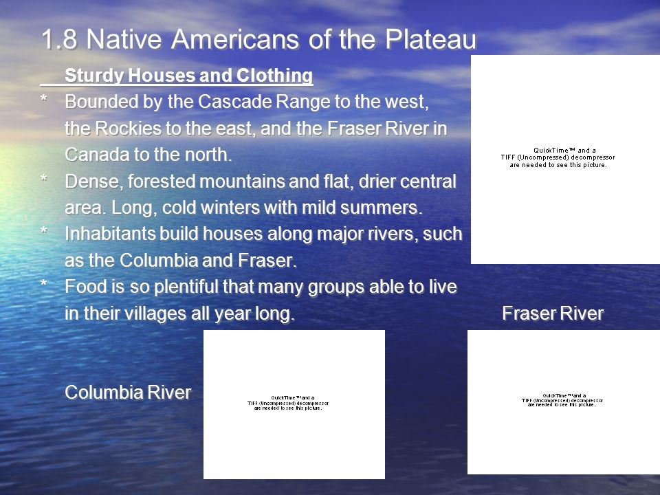 1.8 Native Americans of the Plateau