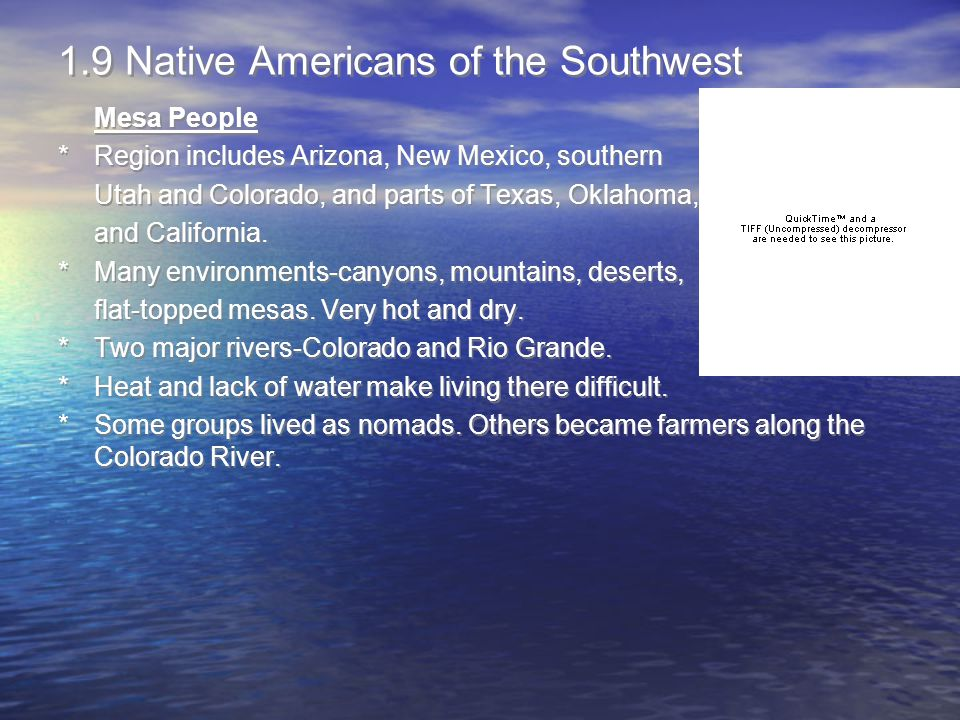1.9 Native Americans of the Southwest