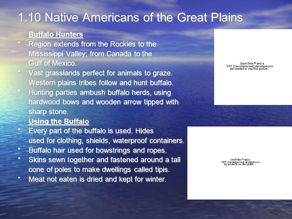 1.10 Native Americans of the Great Plains