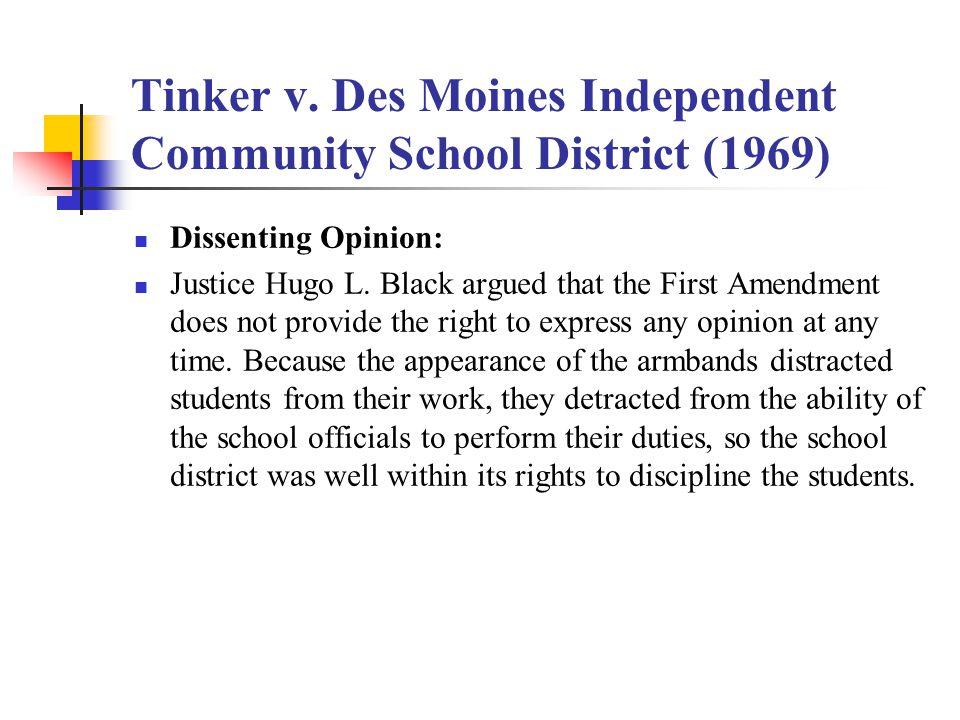Tinker v. Des Moines Independent Community School District (1969)