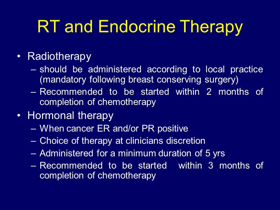 RT and Endocrine Therapy
