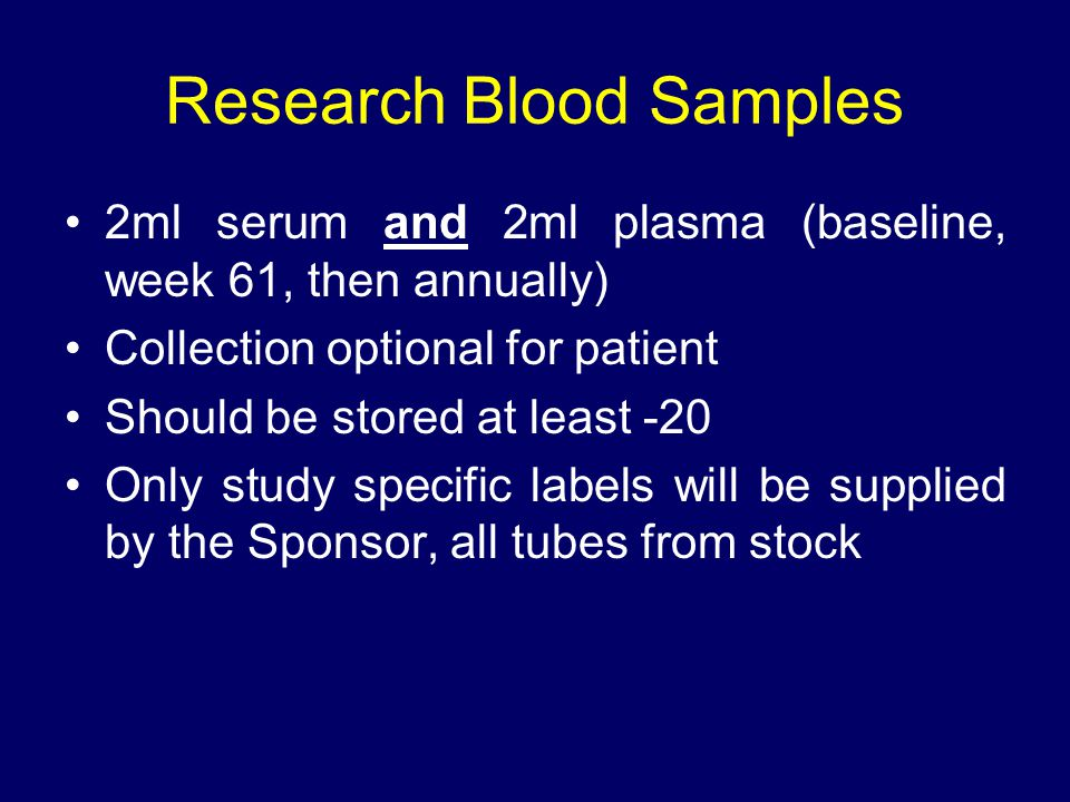 Research Blood Samples