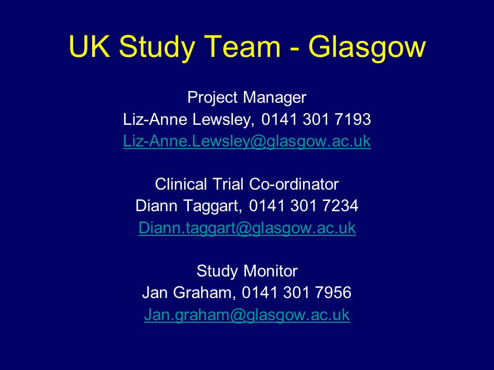 Clinical Trial Co-ordinator