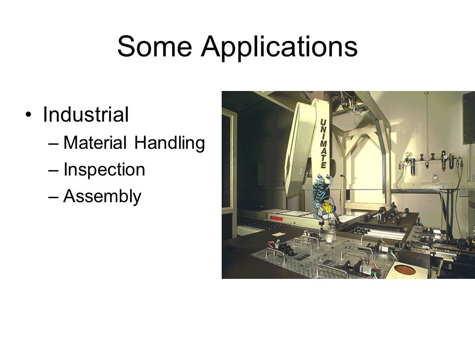 Some Applications Industrial Material Handling Inspection Assembly