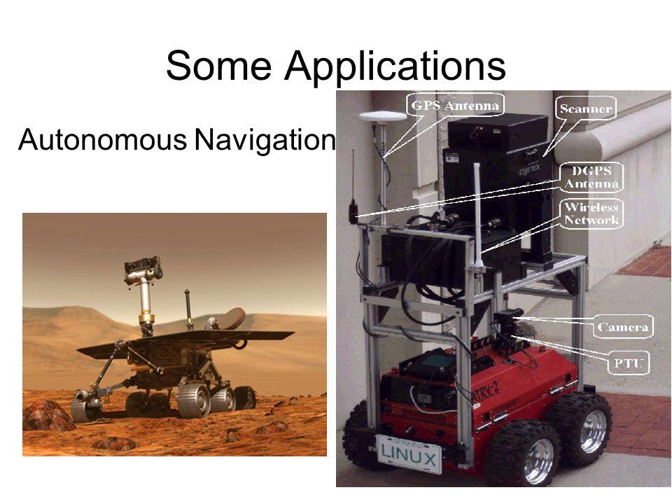 Some Applications Autonomous Navigation
