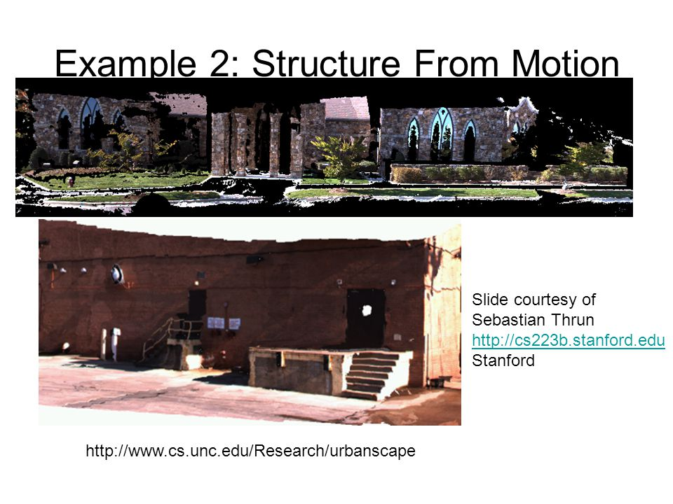 Example 2: Structure From Motion