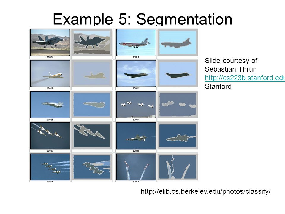 Example 5: Segmentation