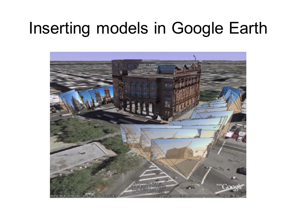 Inserting models in Google Earth