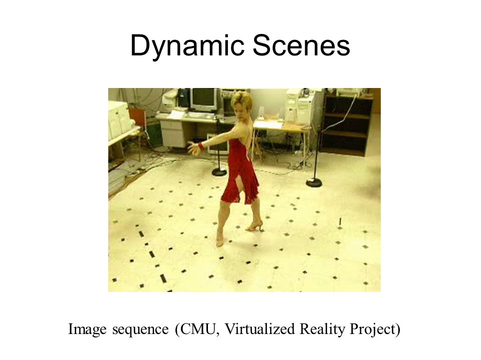 Image sequence (CMU, Virtualized Reality Project)