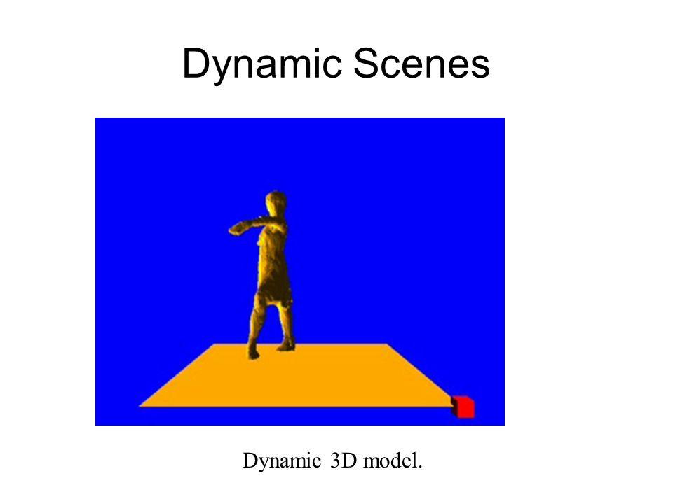 Dynamic Scenes Dynamic 3D model.