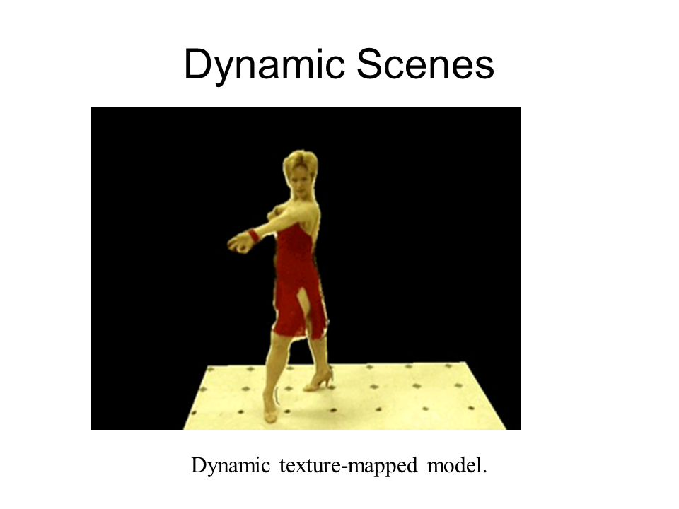 Dynamic texture-mapped model.