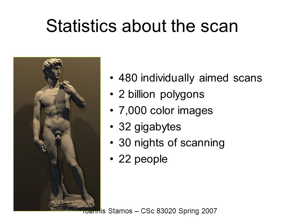 Statistics about the scan