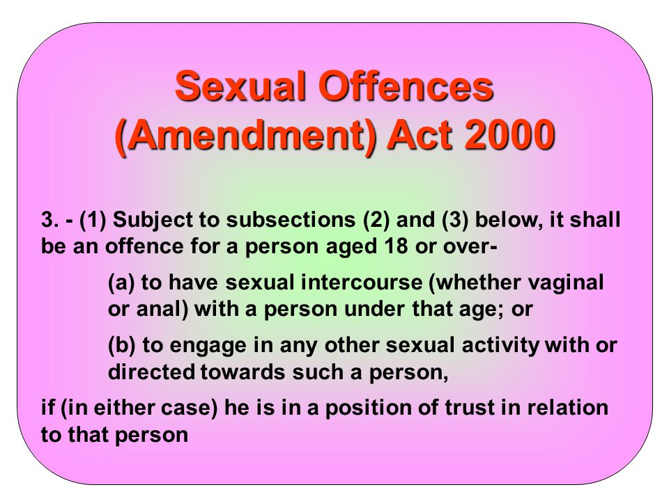 Sexual Offences (Amendment) Act 2000