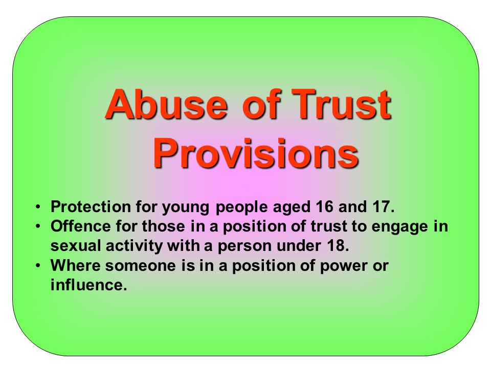 Abuse of Trust Provisions