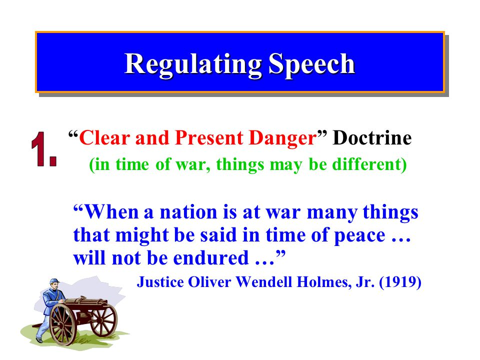 Clear and Present Danger Doctrine