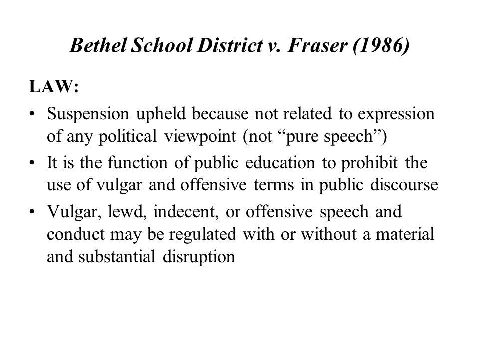 Bethel School District v. Fraser (1986)