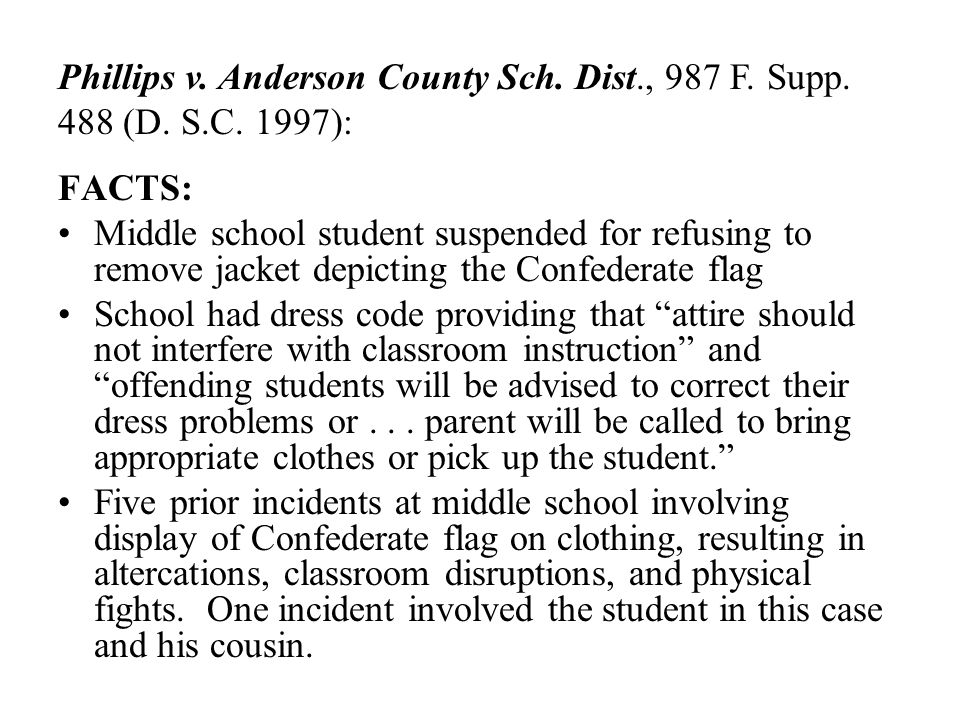 Phillips v. Anderson County Sch. Dist. , 987 F. Supp. 488 (D. S. C