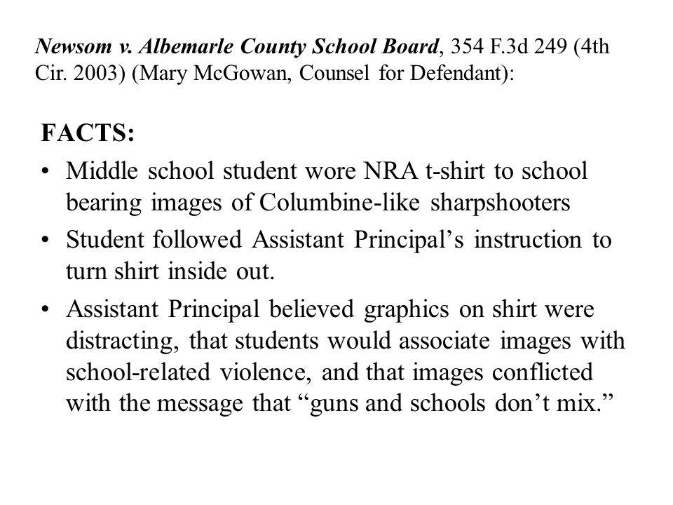Newsom v. Albemarle County School Board, 354 F. 3d 249 (4th Cir