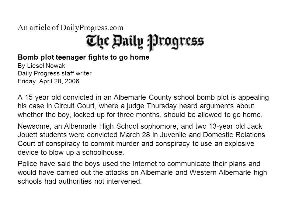 An article of DailyProgress.com