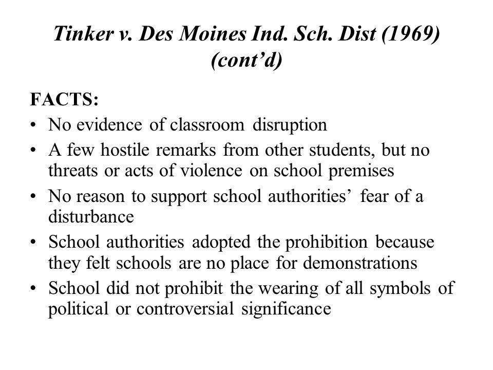 tinker v des moines 1969 summary