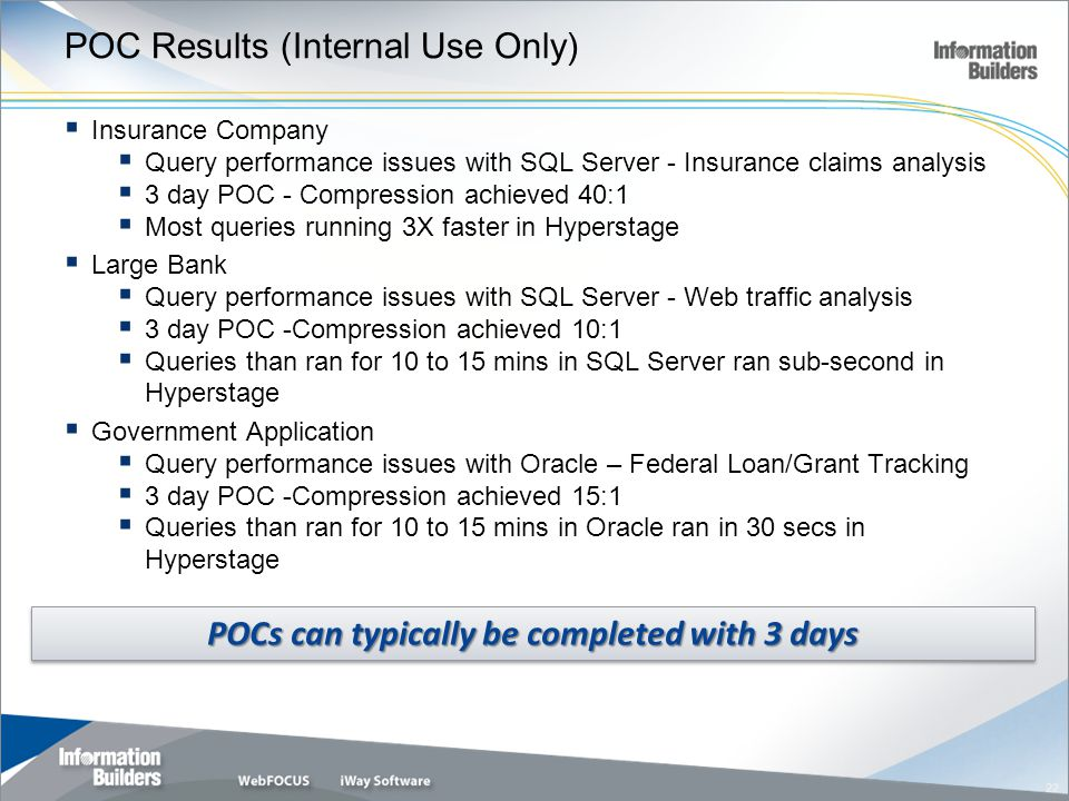 POC Results (Internal Use Only)