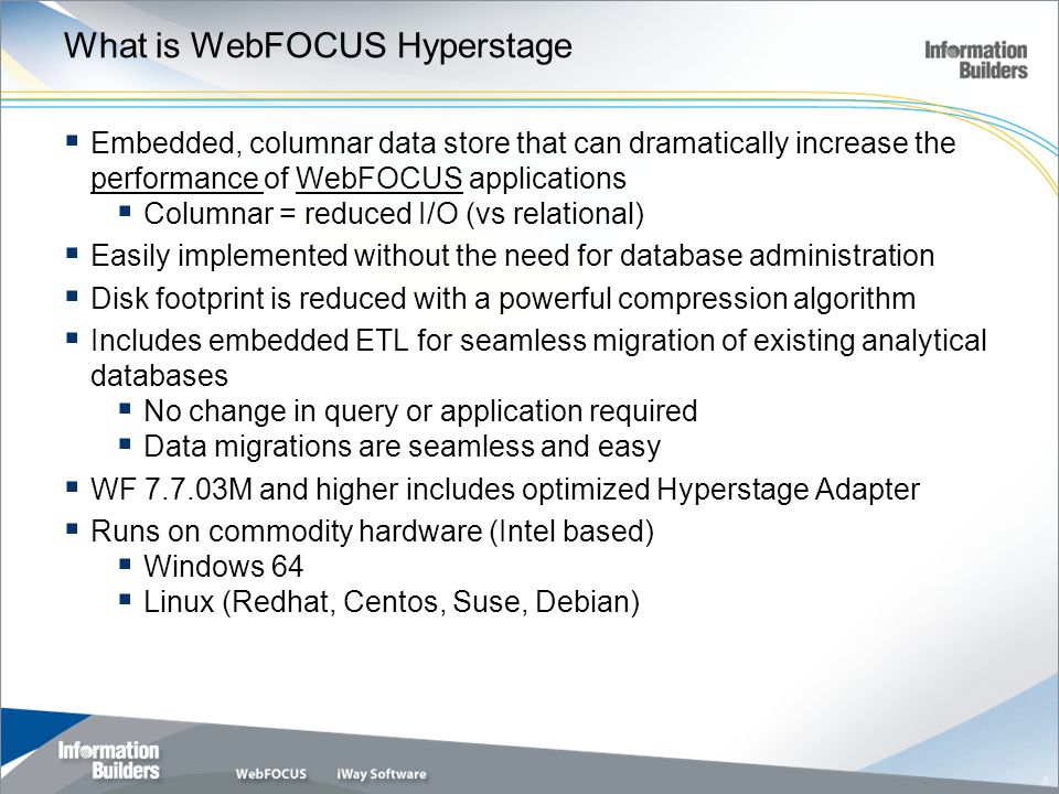 What is WebFOCUS Hyperstage
