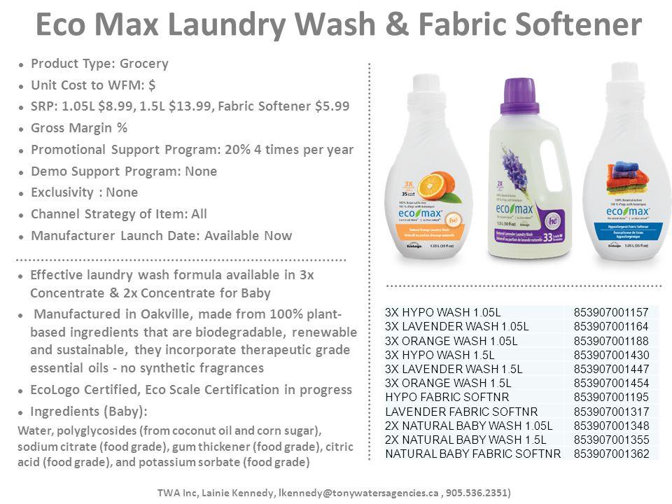 Eco Max Laundry Wash & Fabric Softener