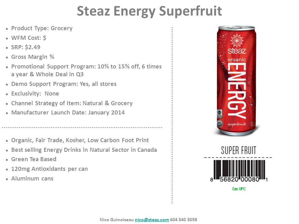 Steaz Energy Superfruit