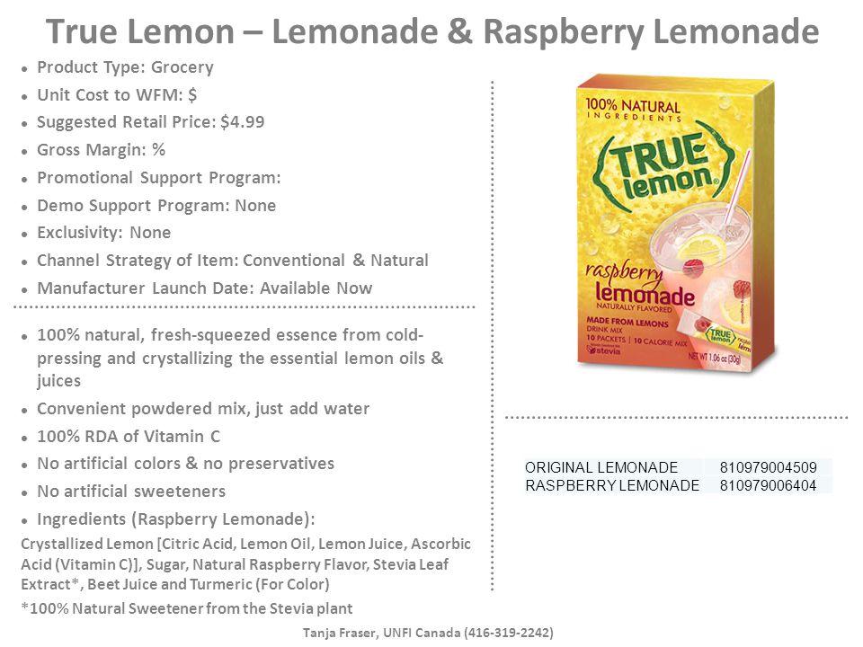True Lemon – Lemonade & Raspberry Lemonade