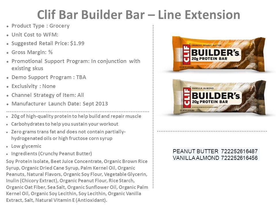 Clif Bar Builder Bar – Line Extension