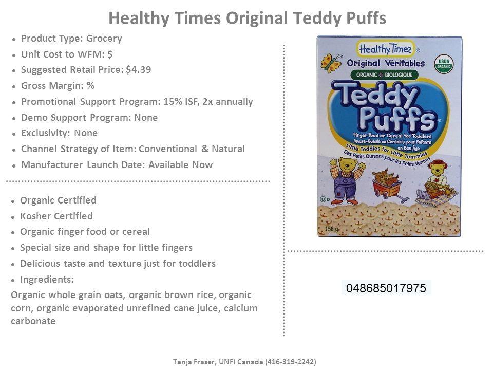 Healthy Times Original Teddy Puffs