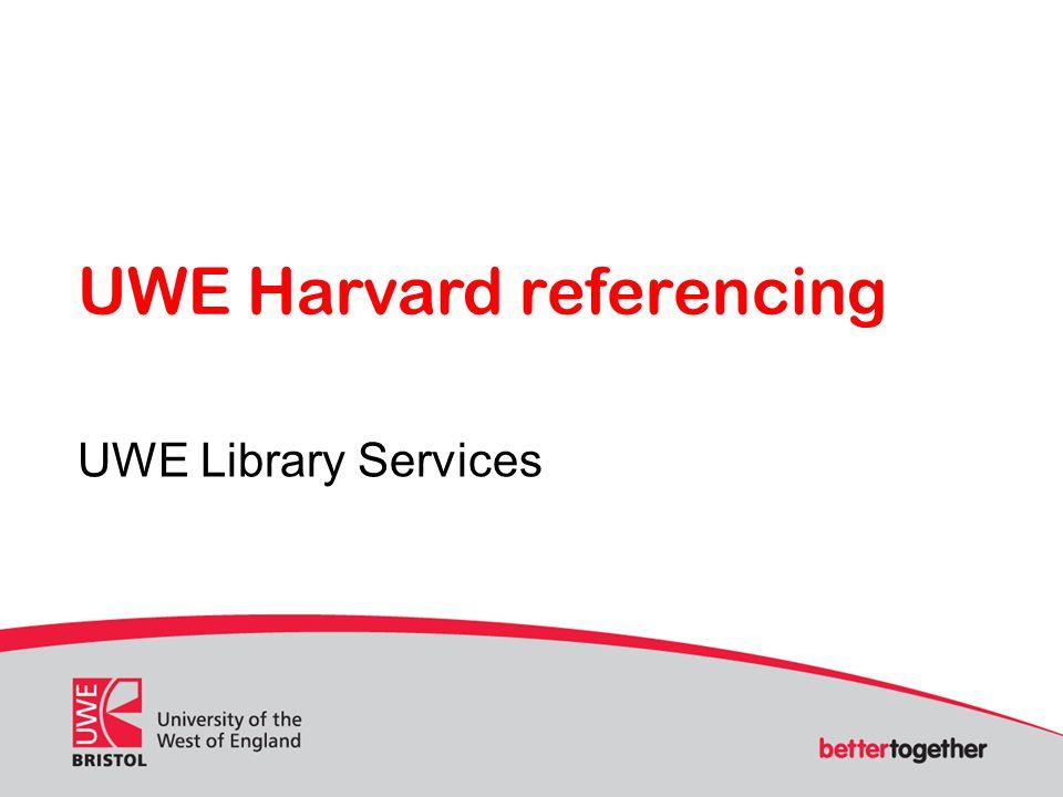 UWE Harvard referencing