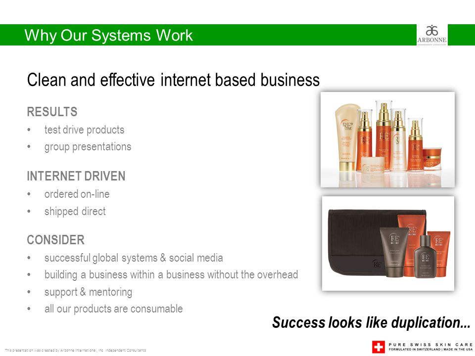 Clean and effective internet based business