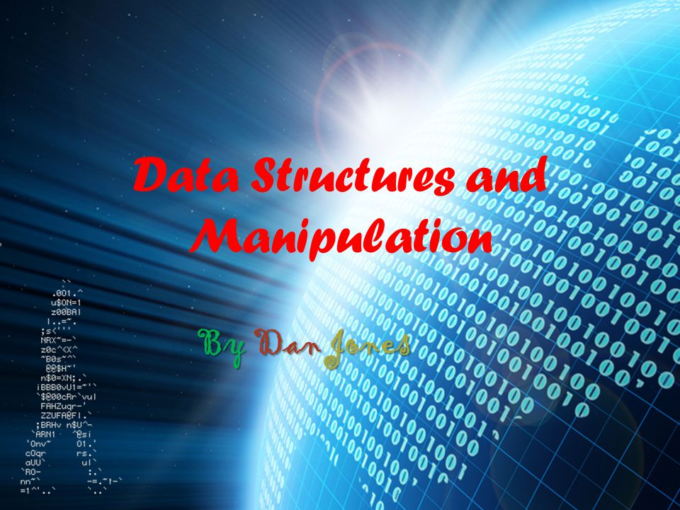 Data Structures and Manipulation