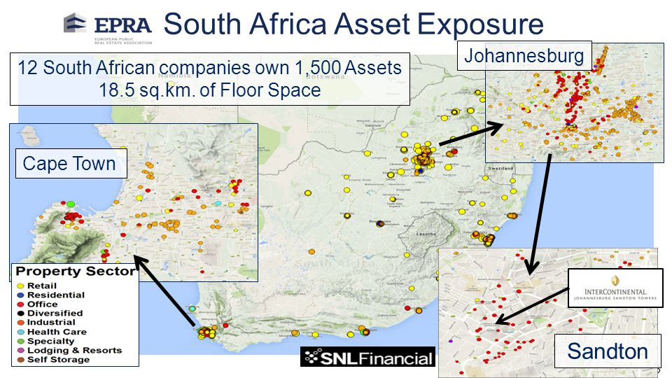 South Africa Asset Exposure