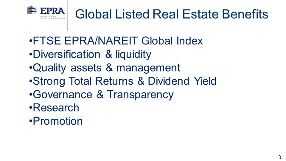 Global Listed Real Estate Benefits