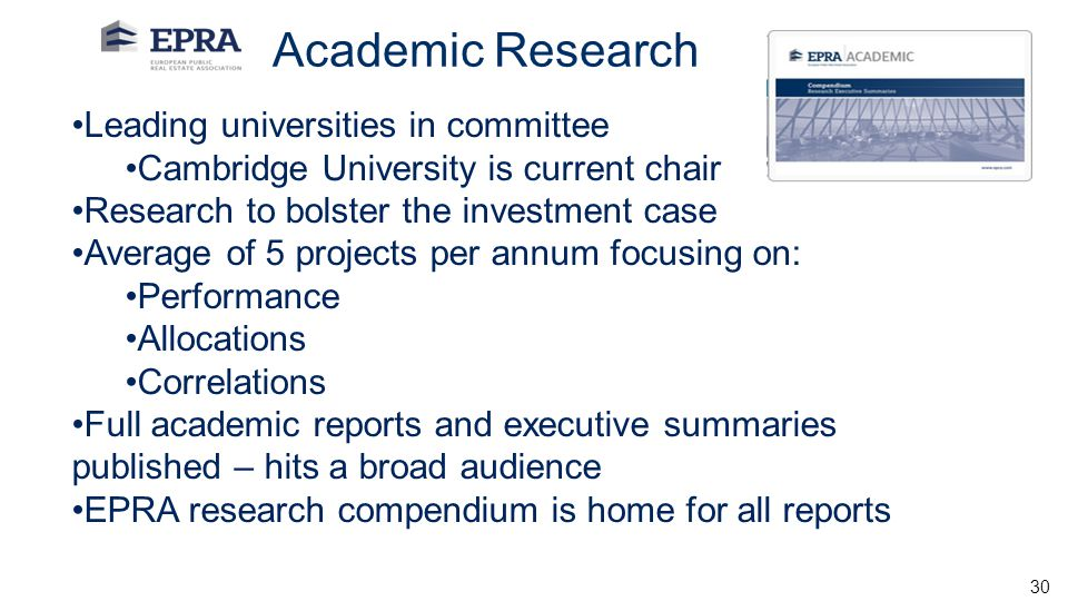 Academic Research Leading universities in committee