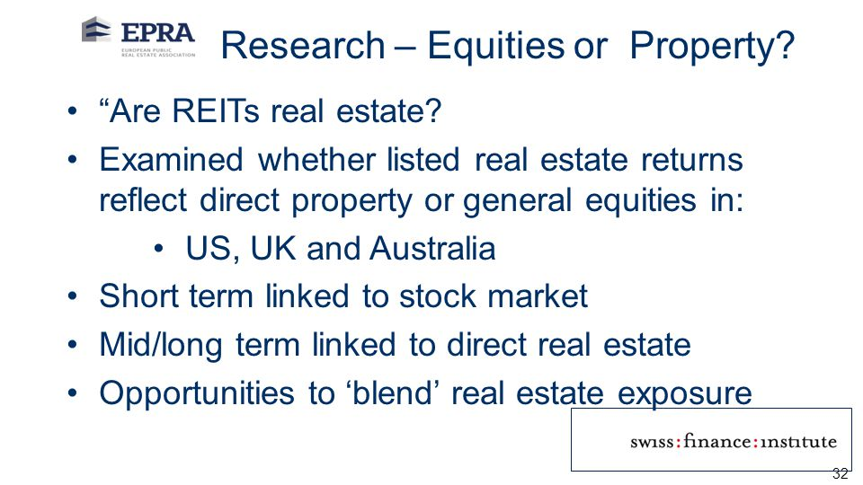 Research – Equities or Property