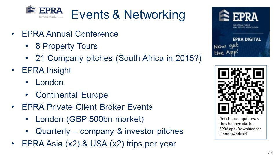 Events & Networking EPRA Annual Conference 8 Property Tours