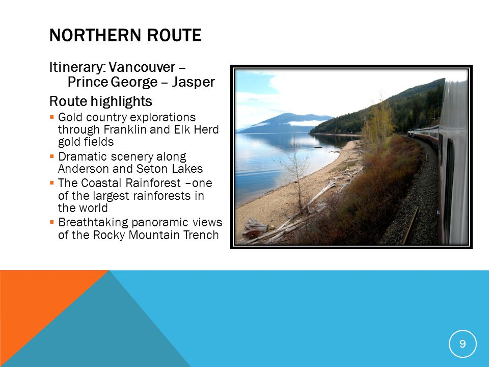 Northern Route Itinerary: Vancouver – Prince George – Jasper