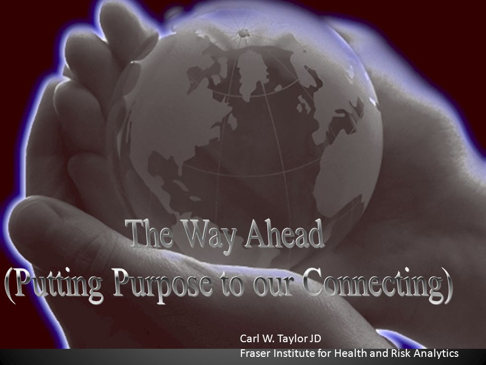 (Putting Purpose to our Connecting)