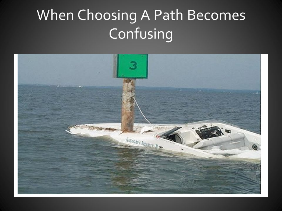 When Choosing A Path Becomes Confusing