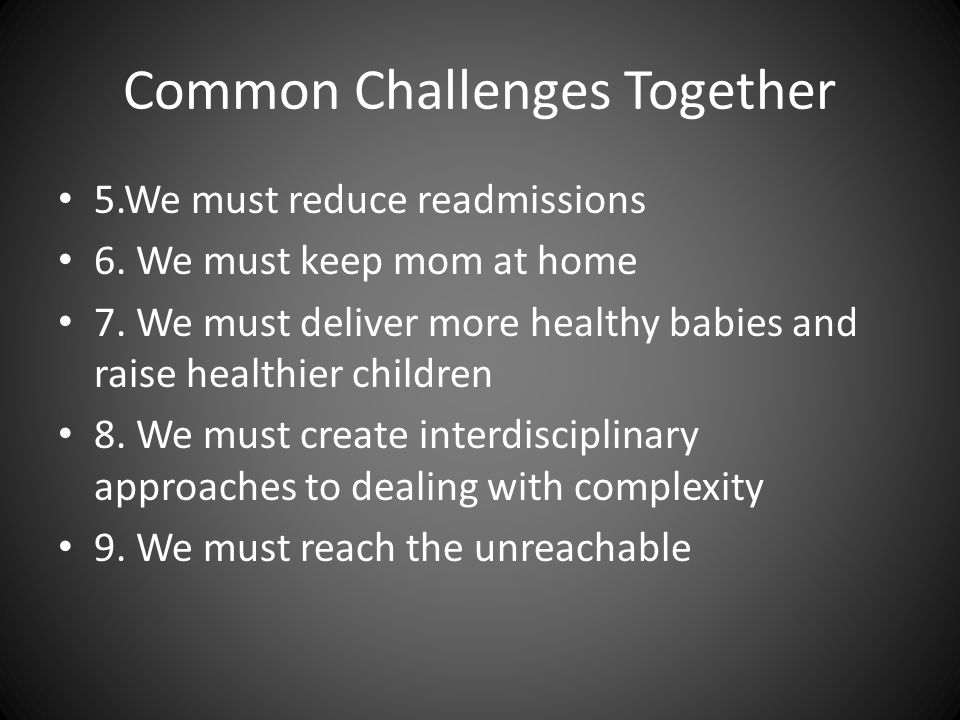 Common Challenges Together
