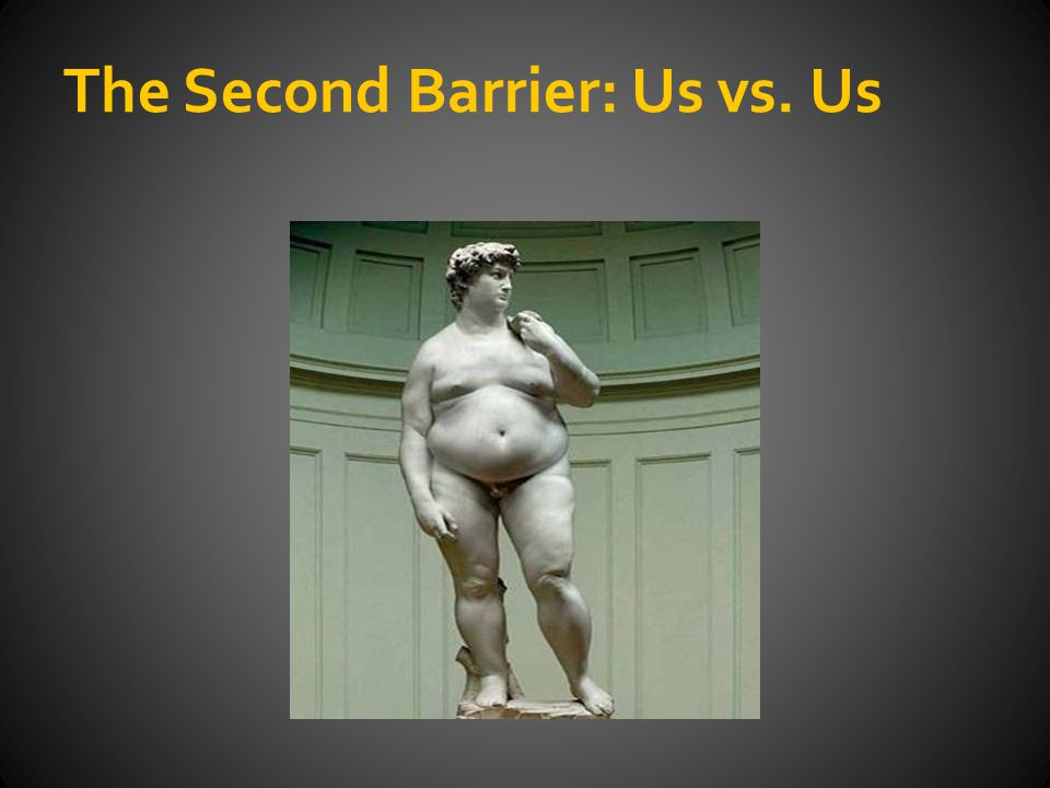 The Second Barrier: Us vs. Us