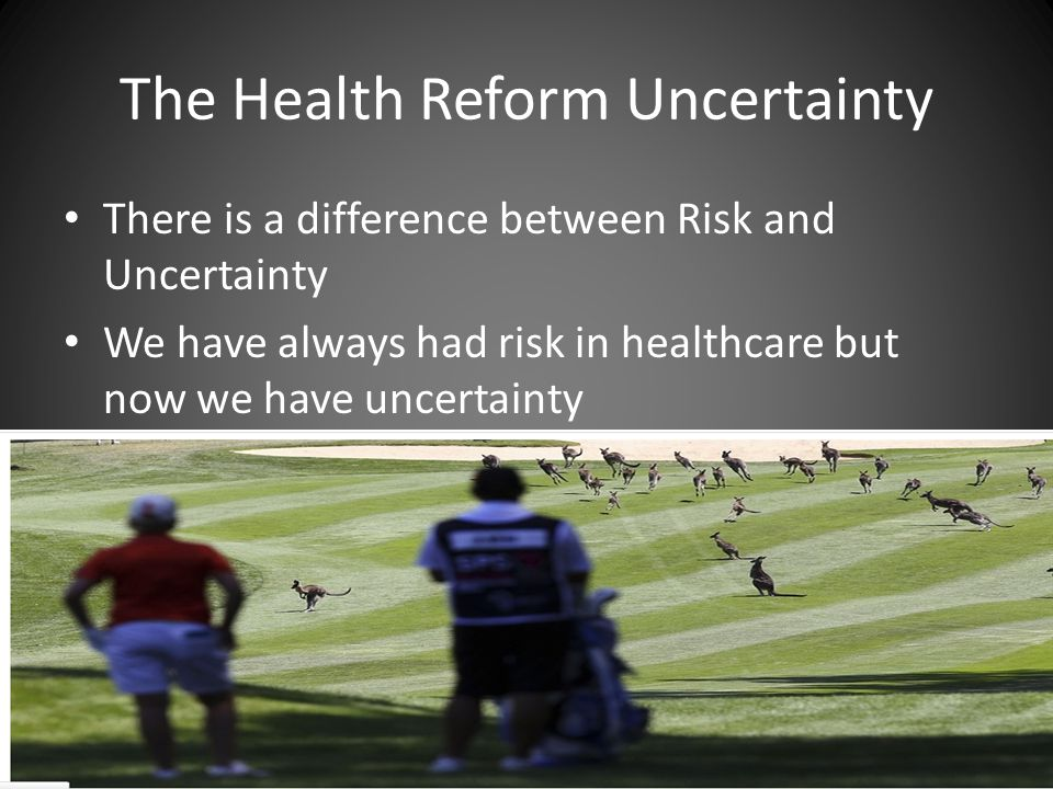 The Health Reform Uncertainty