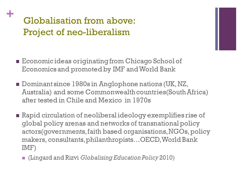 Globalisation from above: Project of neo-liberalism
