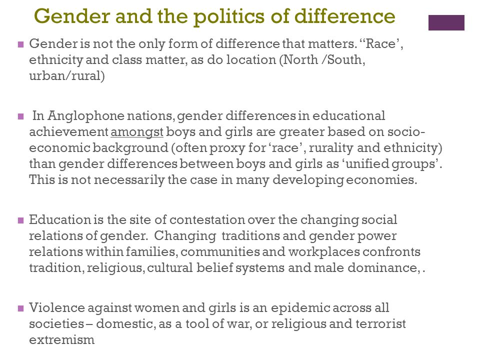 Gender and the politics of difference