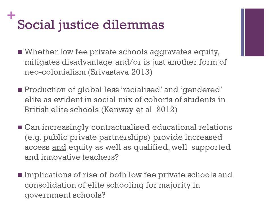 Social justice dilemmas