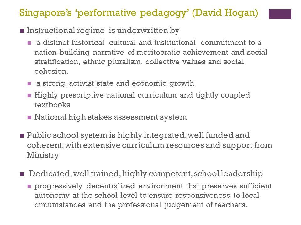 Singapore's 'performative pedagogy' (David Hogan)